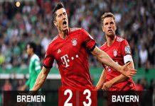 Bremen 2-3 Bayern: Lewandowski bắn hạ Bremen