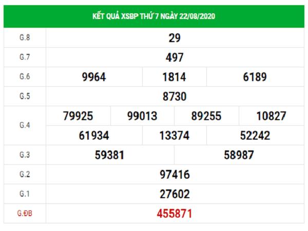 Thống kê KQXSBP- xổ số bình phước thứ 7 ngày 29/08/2020 chắc trúng