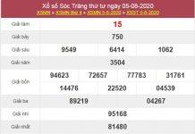 Dự đoán XSST 12/8/2020 chốt lô VIP Sóc Trăng thứ 4