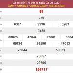 Dự đoán XSBT 29/9/2020 chốt lô VIP Bến Tre thứ 3