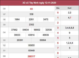 Dự đoán XSTN ngày 19/11/2020- xổ số tây ninh thứ 5